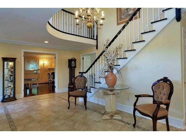 expansive entry foyer