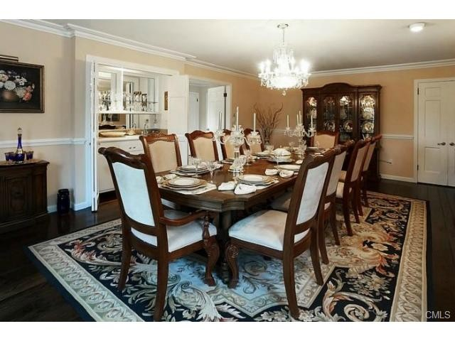 formal dining room room for more at this magnificently set table.