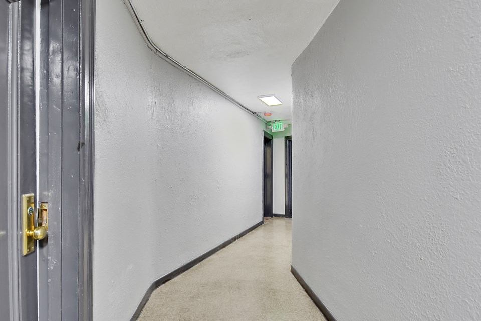 freshly painted hallways